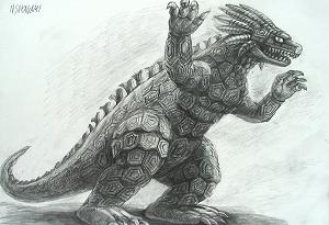ウルトラマンメビウス・サラマンドラ怪獣画像